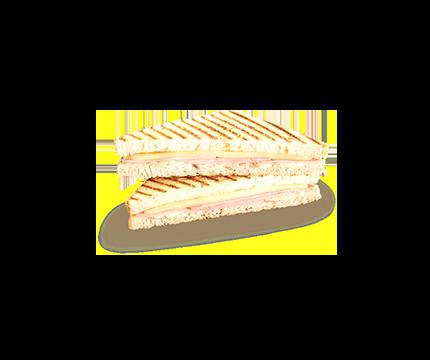 Hot Toast Käse Schinken