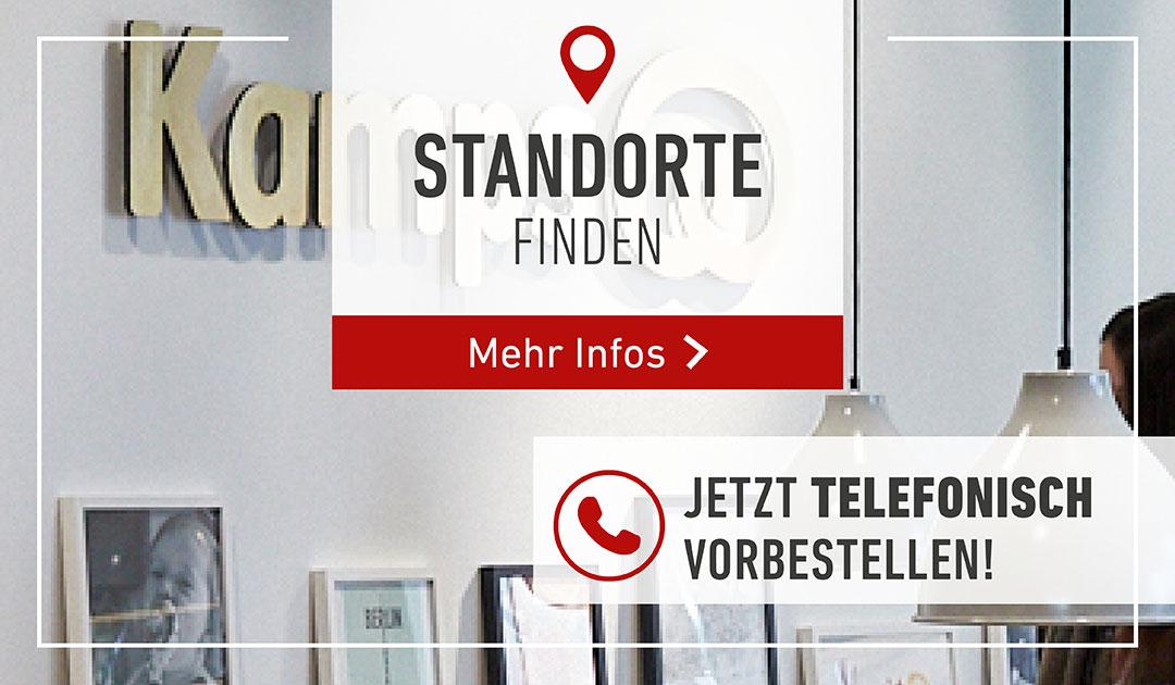 Standorte finden / Telefonisch vorbestellen
