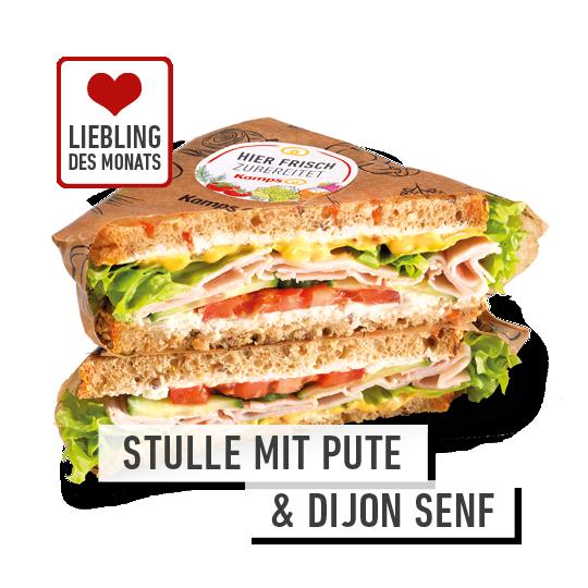 Liebling des Monats: Stulle mit Pute & Dijon Senf