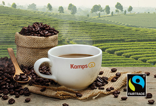 Kamps setzt komplett auf Fairtrade Kaffee