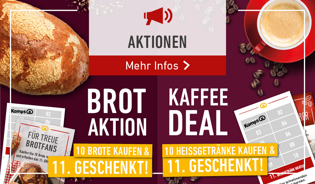 Unsere Aktionen - BROT AKTION & KAFFEE DEAL