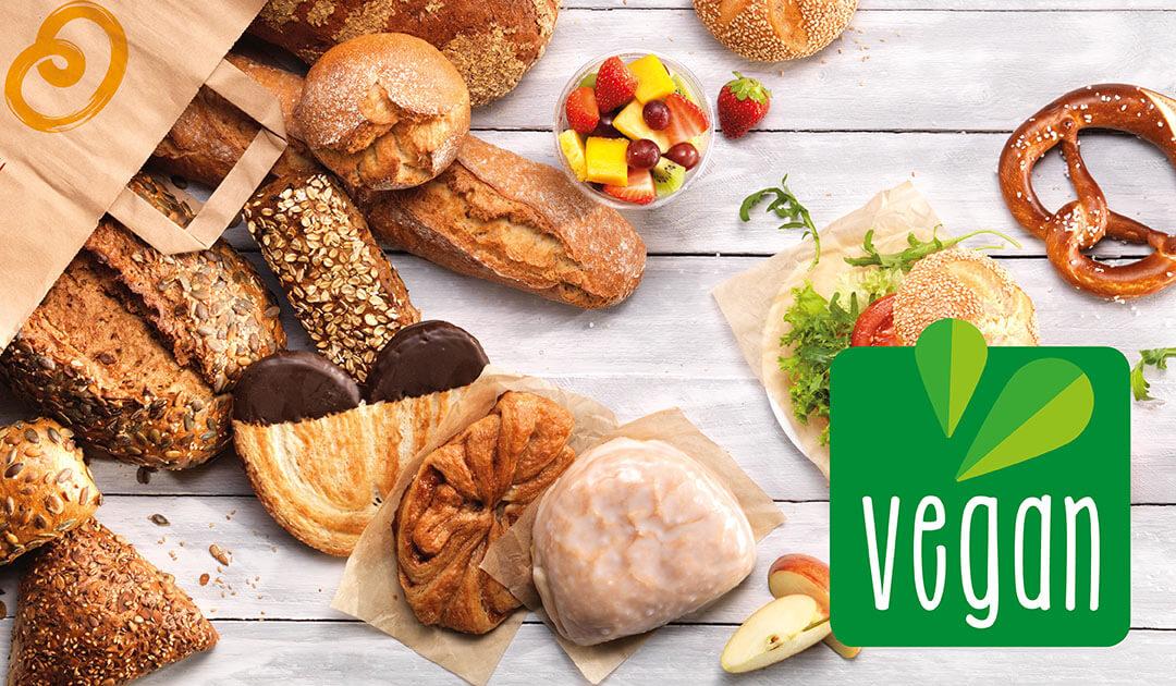 Vegane Kamps Backwaren und das Kamps Vegan-Logo