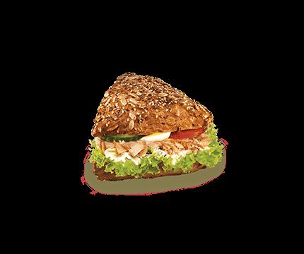 Korneck mit Pute und Frischkäse